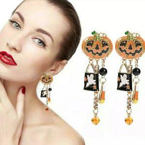 Jack o Lantern Dangle Earrings